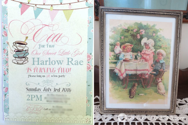 Tea for Two 2nd Birthday Party invitation | spotofteadesigns.com