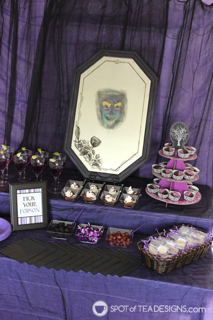 Disney Villain party. #halloween #disney | spotofteadesigns.com