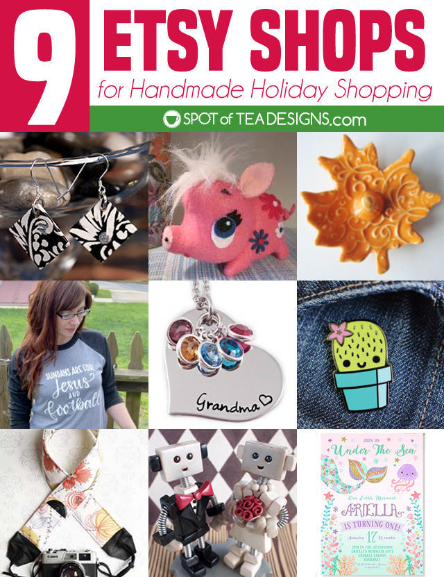 NINE Etsy Shops for Handmade Holiday Shopping + a GIVEAWAY