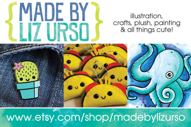 Etsy shop feature - made by liz urso - illustration, crafts, plush, painting and all things cute!