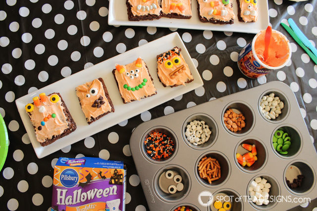 Make Your Own Monster Brownies Halloween Party Activity
