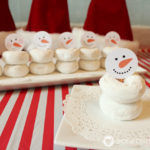 Snowman Doughnut Snacks with Free Printable