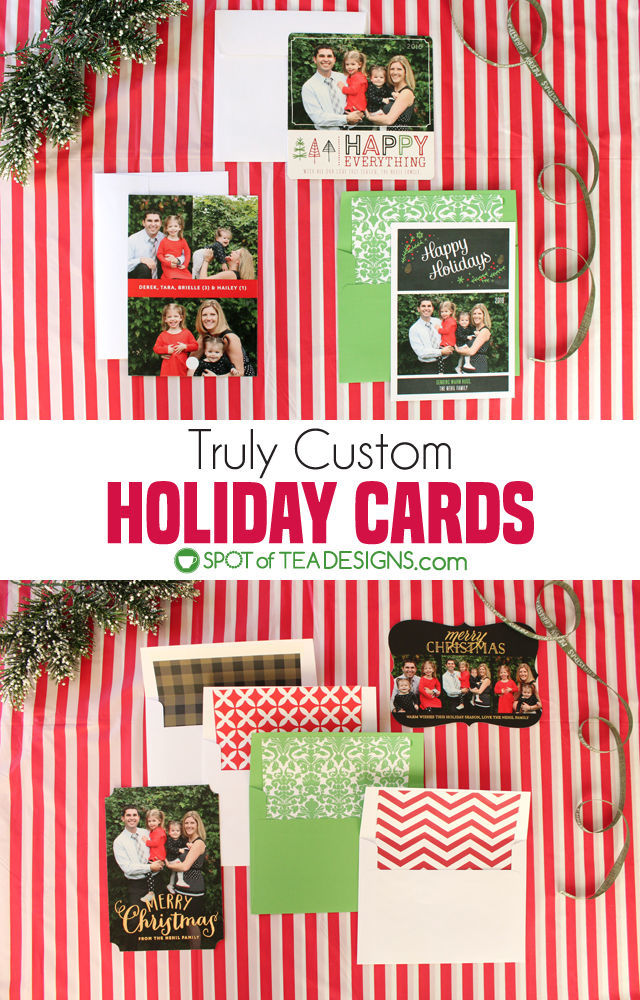 Truly Custom Holiday Cards from @BasicInvite | spotofteadesigns.com