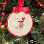 Cross Stitch Portrait Hoop Ornaments