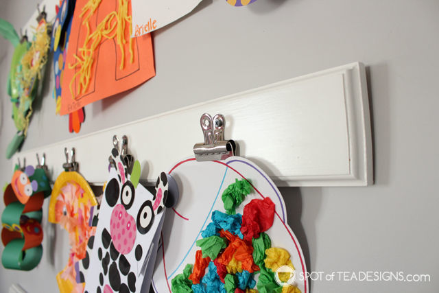 Pink and Yellow Toddler Bedroom Tour - diy art gallery display | spotofteadesigns.com
