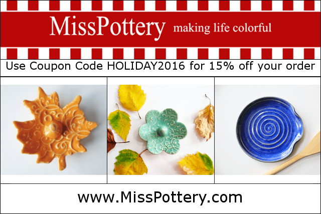 MIss Pottery Etsy Shop - handmade Handmade colorful mugs, ring dishes and custom pottery