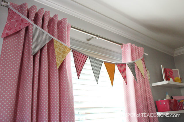 Pink and Yellow Toddler Bedroom Tour | spotofteadesigns.com