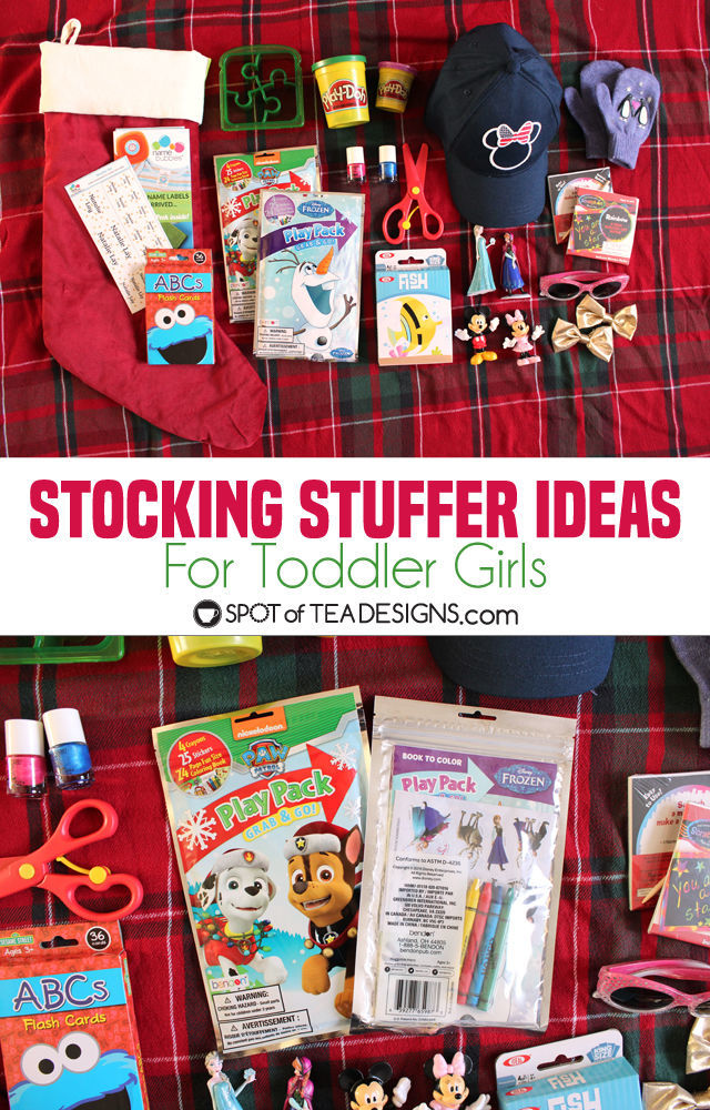 Christmas Stocking Stuffer Ideas for Toddler Girls | spotofteadesigns.com