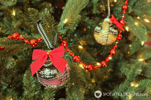 Beer Label Christmas Ornament - great DIY gift for guys featuring their favorite #beer!   spotofteadesigns.com