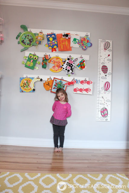 DIY Art Gallery Display for a Toddler's Room