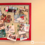 Chicken Wire Holiday Card Display