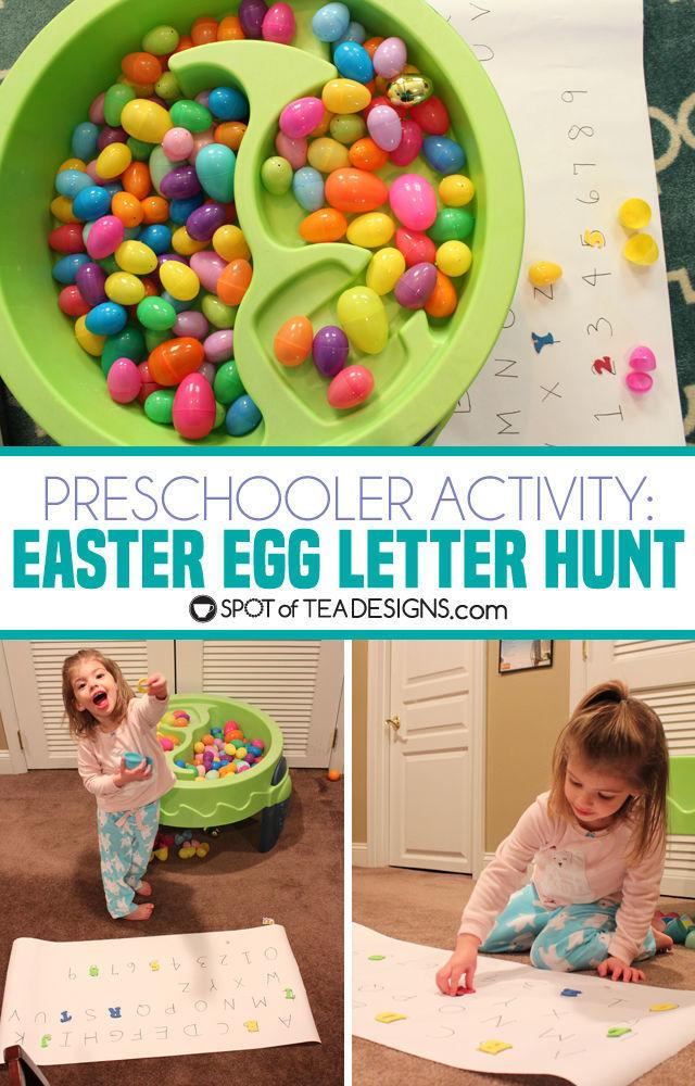 Easter Egg Letter Hunt Activity