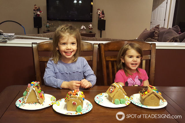 7 lessons learned from our first gingerbread house kit experience | spotofteadesigns.com