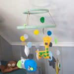 Gender Neutral Modern Animal Nursery: DIY Felt Animal Mobile {Guest Post}
