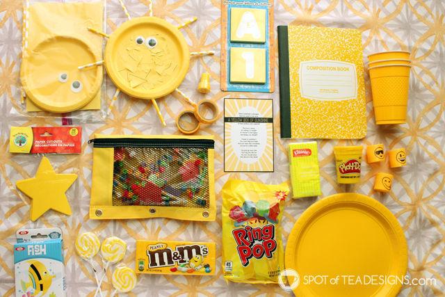 Box of Sunshine Gift Basket Idea (plus free printable)
