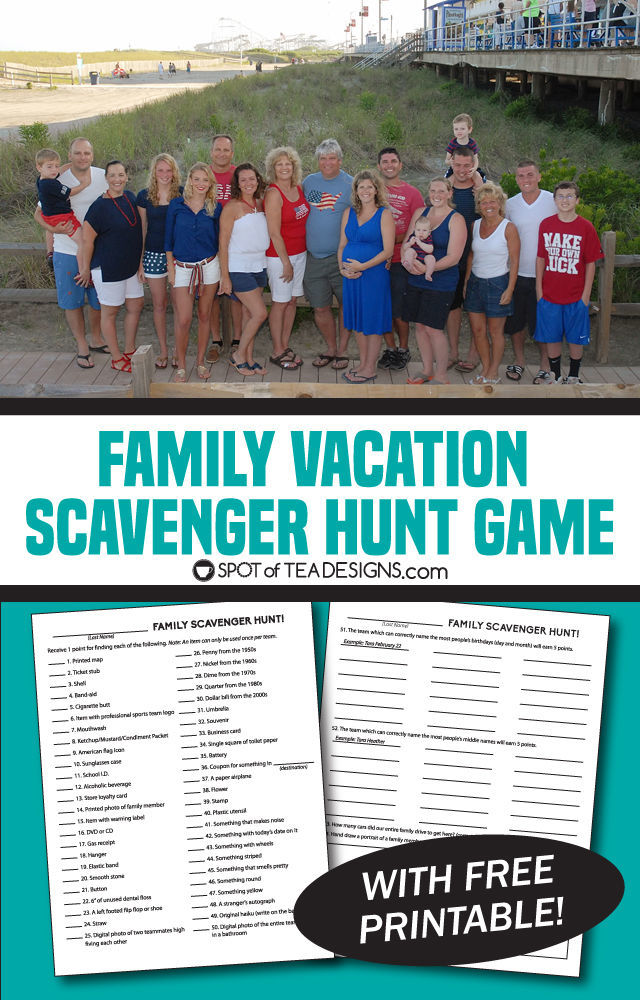 Family Game Free Printable Scavenger Hunt