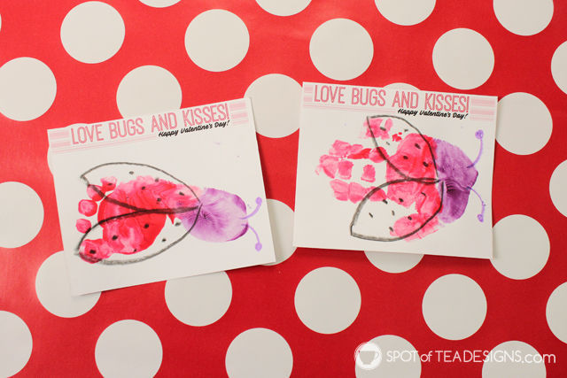 Love Bugs And Kisses Valentines Kids Craft With Free Printable |  Spotofteadesigns.com
