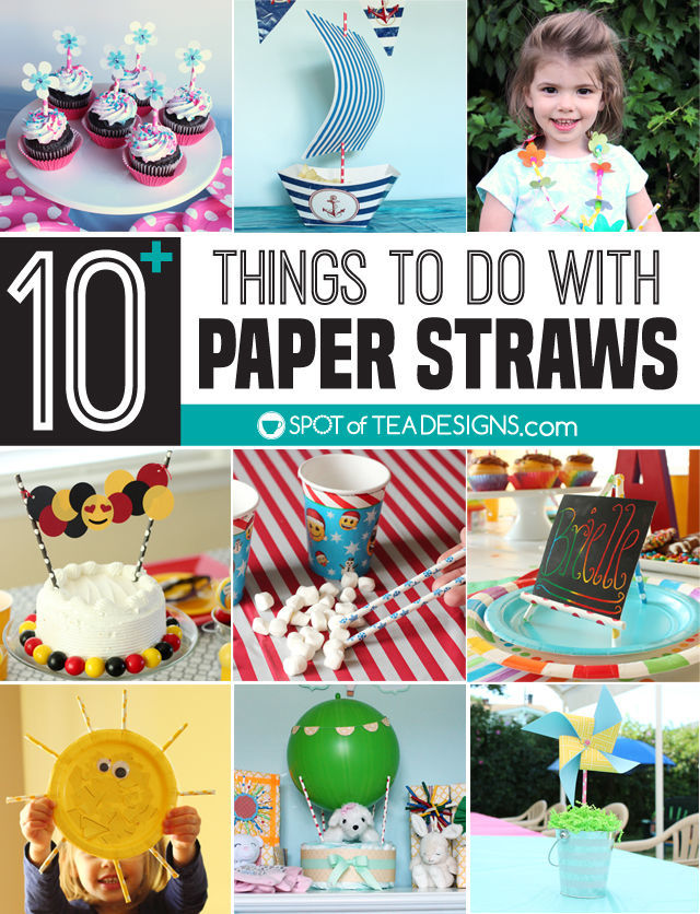 Over 10 things you can do with paper straws | spotofteadesigns.com
