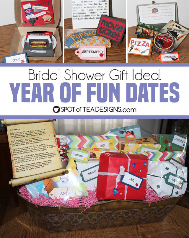 year of fun dates bridal shower gift open one gift each month for their first