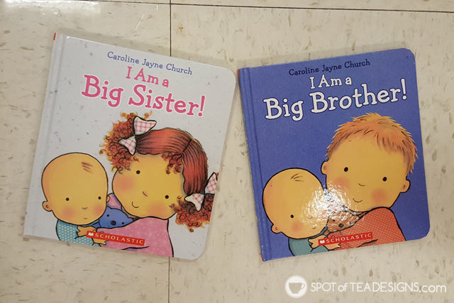 Book recommendations for Big Brothers and Big sisters, great gift idea when a new baby arrives | spotofteadesigns.com
