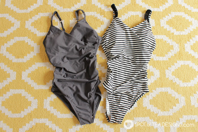 3 cute one piece bathing suit recommendations from Target for moms | spotofteadesigns.com