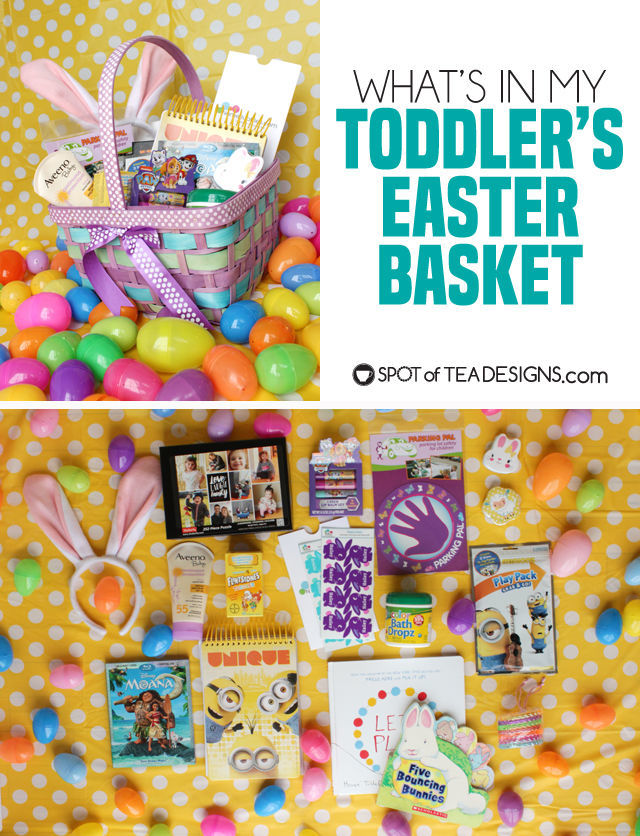 What's in my Toddler's Easter Basket - non candy ideas to include | spotofteadesigns.com