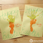 Easter Carrot Handprint Footprint Kids Craft