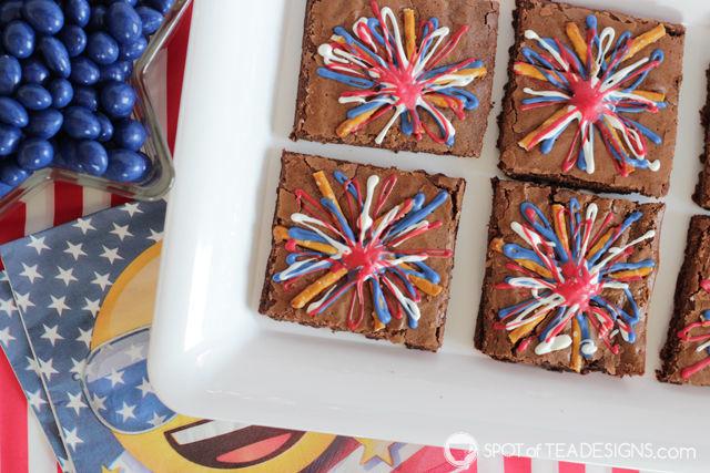 Patriotic Fireworks Brownies