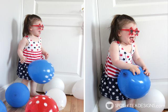 Patriotic Toddler Photoshoot | spotofteadesigns.com