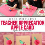 Teacher Appreciation Apple Card Kids Craft