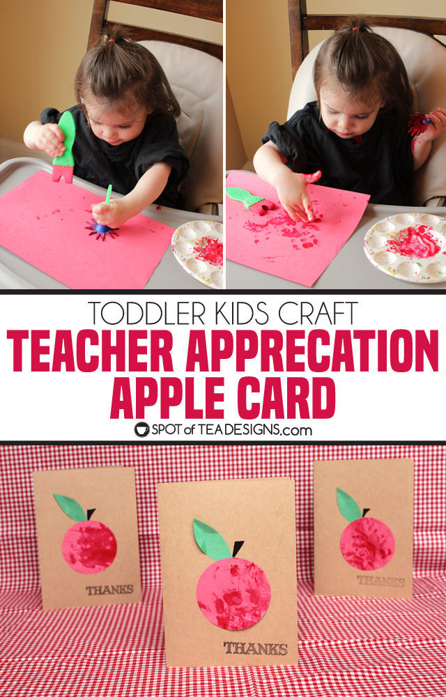 super simple teacher appreciation card kids craft | spotofteadesigns.com