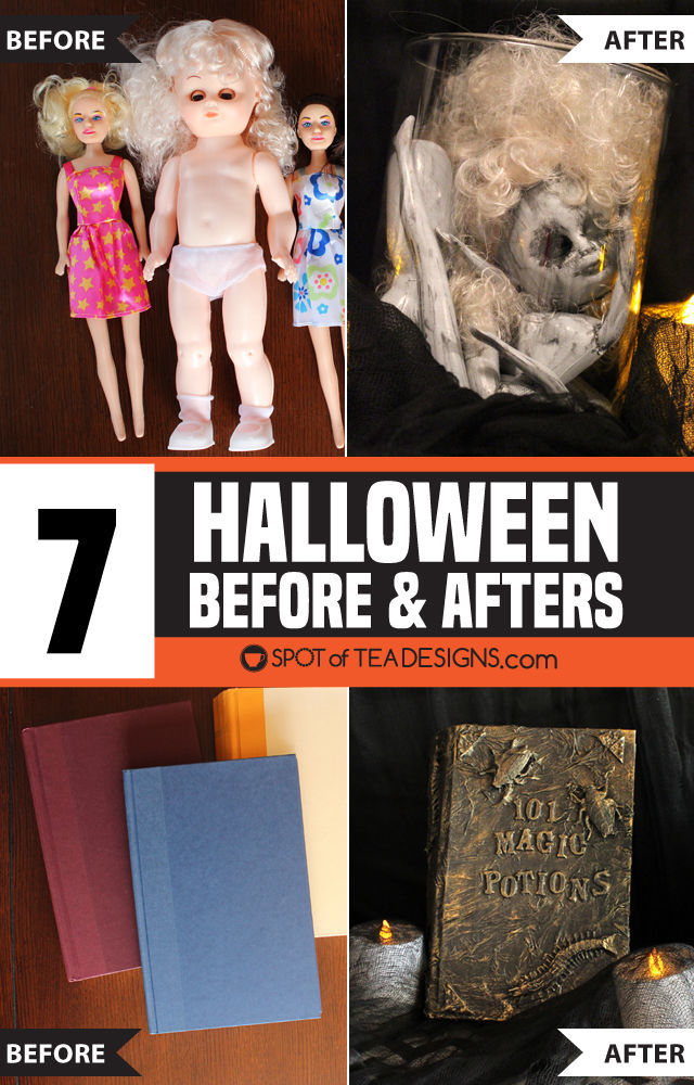 7 Halloween Before and Afters - diy projects for Halloween decor and parties! | spotofteadesigns.com