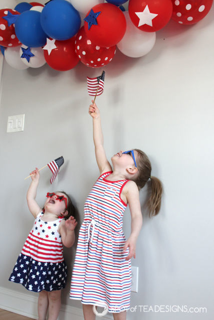 Patriotic Toddler Photoshoot | spotofteadesigns.com