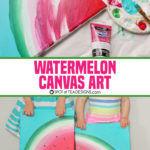 Sweet Summer Watermelon Canvas Art