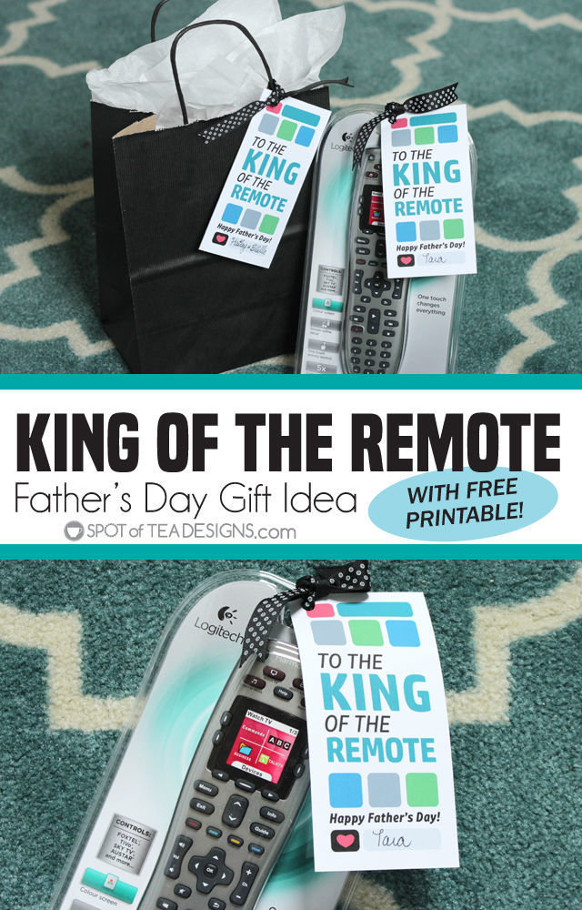 Father's Day King of the Remote Printable
