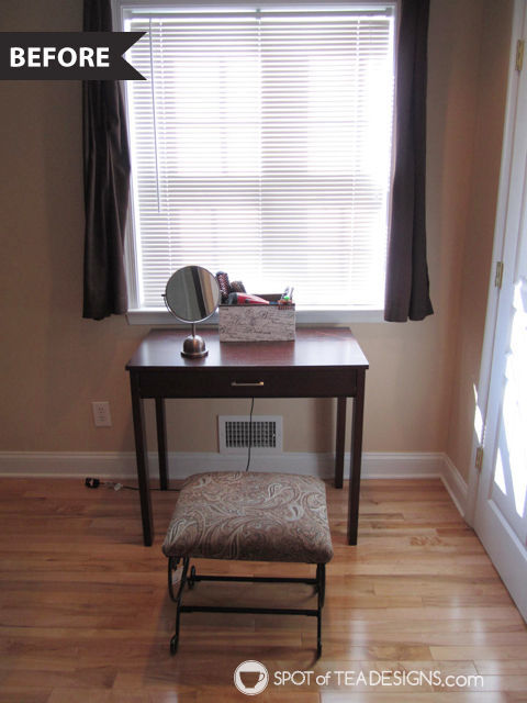Calming and relaxing master bedroom mini makeover - before photo - before photo | spotofteadesigns.com