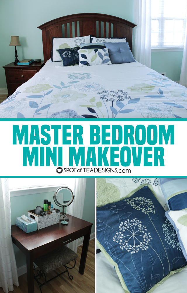 Calming Master Bedroom Mini Makeover