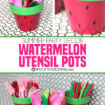 Watermelon Utensil Holders from Terracotta Pots