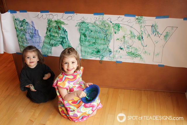 Father's Day Kids Craft | World's Greatest Daddy Banner