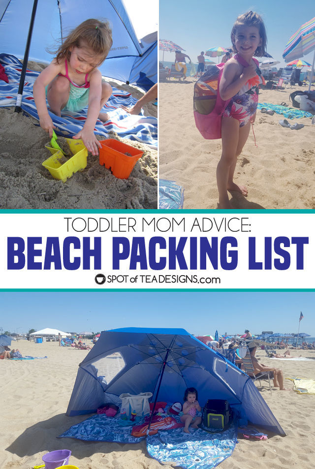 Toddler Mom Advice: Beach Packing List