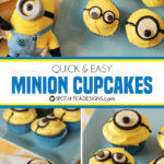 Quick and Easy Minion Cupcakes