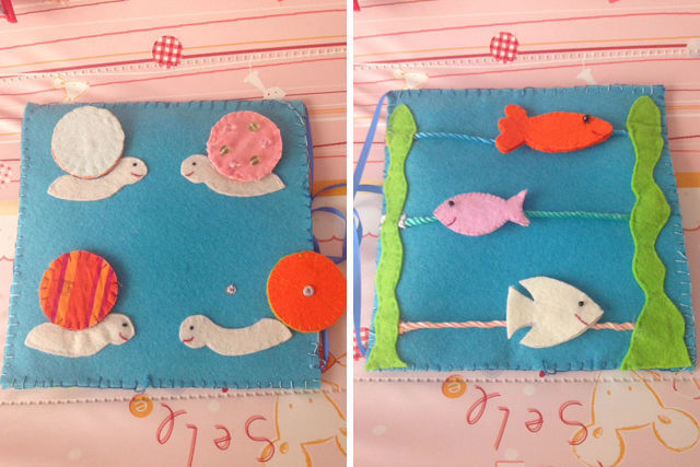 Spotofteadesigns.com Reader's Feature - submission of Filipa Baptista's version of the Under the SEa quiet book | spotofteadesigns.com