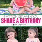 Invitation Idea When You Share a Birthday
