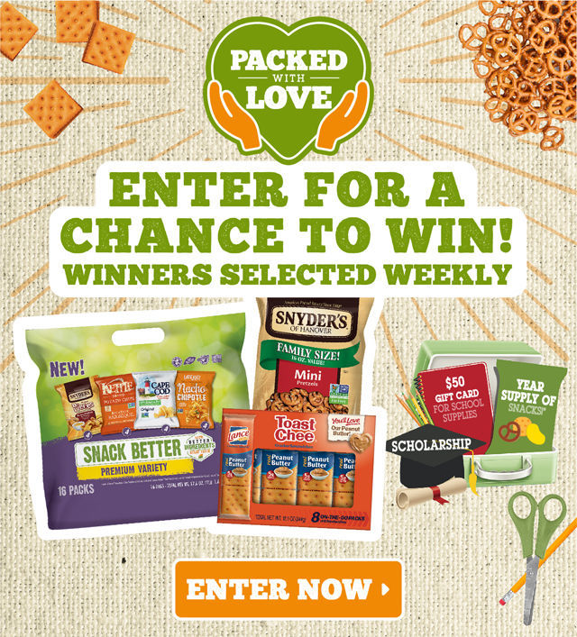 #ad Packed with love Snyders Lance Sweepstakes Entrance image #packwithlove