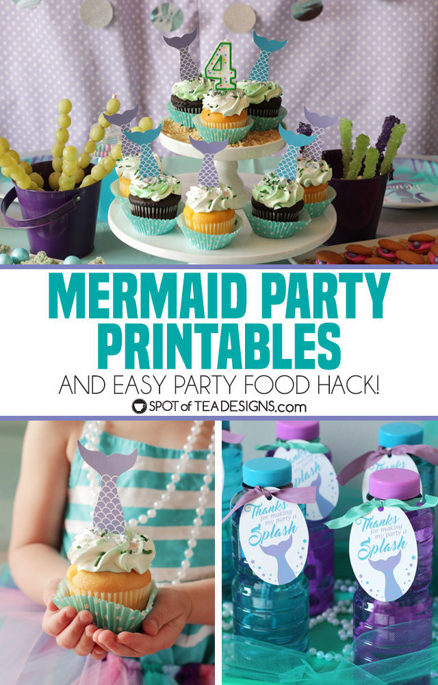 Mermaid Party Printables And a Party Food Hack