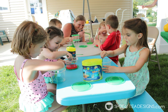 Watermelon party ideas - slime activity | spotofteadesigns.com