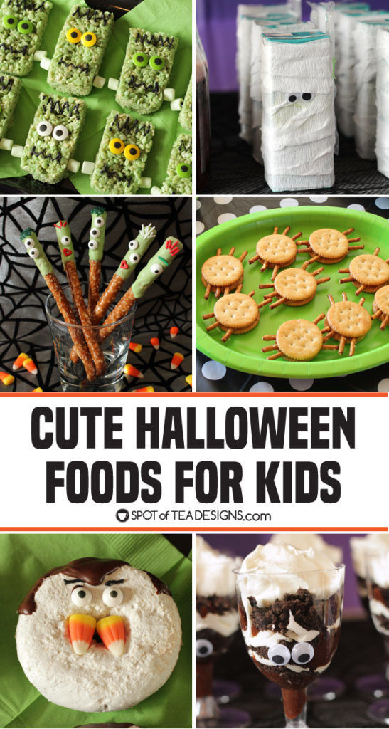 Cute Halloween Food ideas for Kids | spotofteadesigns.com