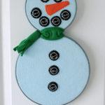 Mixed Media Snowman Wall Art
