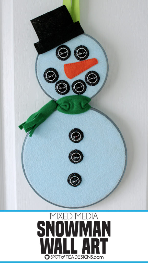 Mixed Media Snowman Wall Art