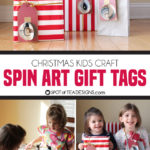 Spin Art Ornament Gift Tags Kids Craft